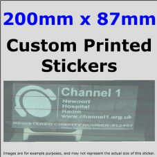 87mm x 200mm Custom Printed Advertising,Fun Stickers-Windows,Bumper-Car,Taxi,Van,Business,Website